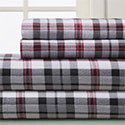 Winter Nights Plaid Flannel Sheet Set