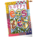Art Print Easter Egg Flowers Flag