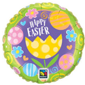 Easter Tulip & Swirls 3 Pack Balloons