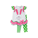 Little Girls' Easter Bunny Leggings Set