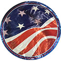American Flag Round Foil Balloons