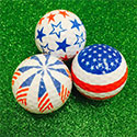 Lady Golf Patriotic Print Golf Balls