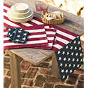 Patriotic Americana Table Linens