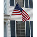 3'X5' USA House Flag Set w/ Pole