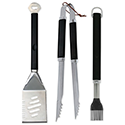 Plastic Finger Grip 3-Piece Grill Tool Set