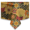 Button Blooms Harvest Tablecloth