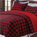 Western Plaid Cotton Quilt/Sham Set