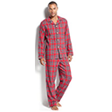 Club Room Men's Flannel Pajamas Set