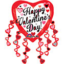 Valentine Heart Streamers Balloon