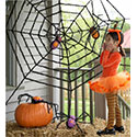 Giant Spiderweb Decoration with Spiders