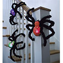 Light-Up Fuzzy Spiders, Set of 3