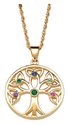 Family Birthstone Tree of Life Necklace
