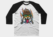 Bengal Tiger Winter Snowboard Tee