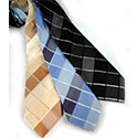 Woven Updated Plaid Silk Tie & Hanky Set