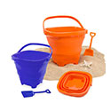 Collapsible Beach Pail with Shovel