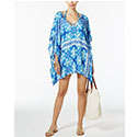 True Blue Tile-Print Cover-Up Tunic