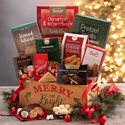Decorative Crate Christmas Gift Basket