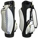 White Diamond Quilted / Patent Leather Golf Bag