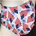 Washable Flag Print Layered Facemask