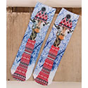 Photo-printed Mid-calf Winter Giraffe Socks