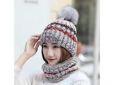 Women's Assorted Color Scarf And Wool Hat